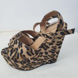 🐻 Leopard Print Womens Comfy Wedge Sandals